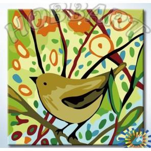 На цветущих ветках Раскраска картина по номерам акриловыми красками на холсте Hobbart