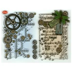 Steampunk Zahnrad-Hin Набор прозрачных штампов для скрапбукинга, кардмейкинга Viva Decor