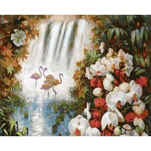 Райский сад Раскраска картина по номерам акриловыми красками на холсте Белоснежка