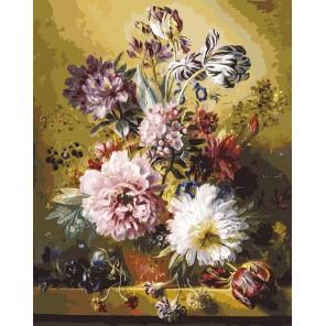 Фламандский букет Раскраска картина по номерам акриловыми красками на холсте Белоснежка