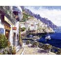 Утренний городок Раскраска картина по номерам акриловыми красками на холсте Белоснежка