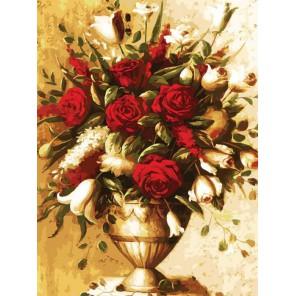 Элегантный букет Раскраска картина по номерам акриловыми красками на холсте Белоснежка