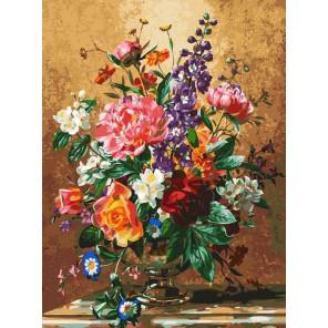 Роскошный букет Раскраска картина по номерам акриловыми красками на холсте Белоснежка
