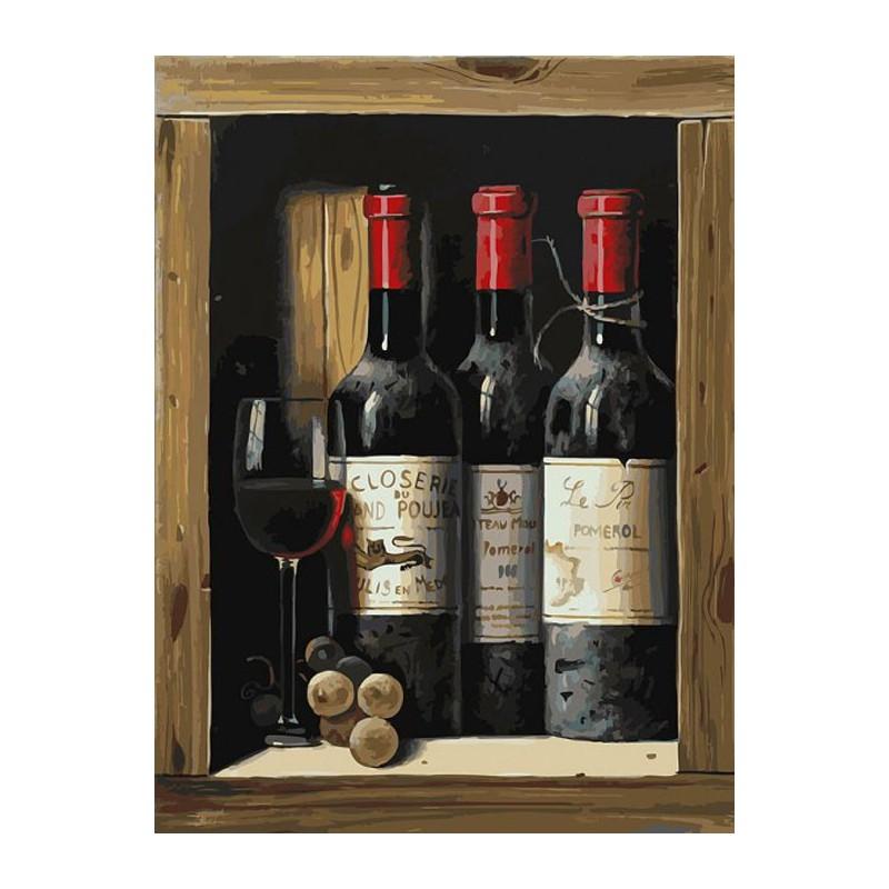 Коллекционное вино раскраска по номерам