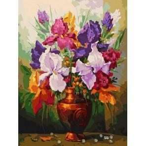 Ирисы Раскраска картина по номерам акриловыми красками на холсте Белоснежка