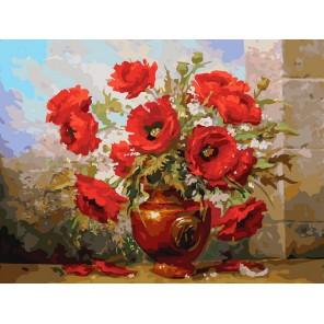 Маки Раскраска картина по номерам акриловыми красками на холсте Белоснежка