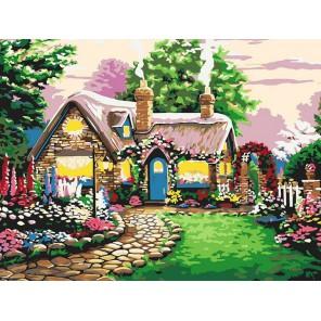 Сказочный домик Раскраска картина по номерам акриловыми красками на холсте Белоснежка