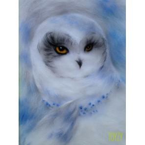 Северная сова Картина из шерсти Toyzy