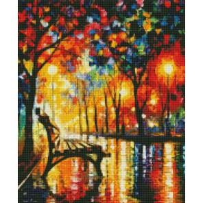 Вечером в парке (Леонид Афремов) Алмазная мозаика на подрамнике