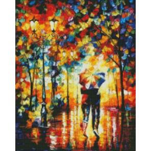 Под зонтом (Леонид Афремов) Алмазная мозаика на подрамнике