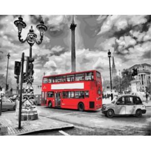 Лондонский автобус Раскраска картина по номерам акриловыми красками на холсте