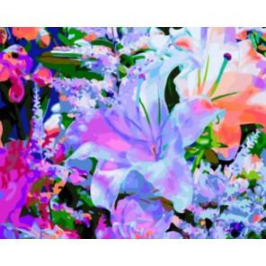 Лилия Раскраска картина по номерам акриловыми красками на холсте