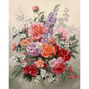 Цветочная фантазия Раскраска картина по номерам акриловыми красками на холсте