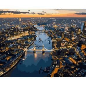 Закат над Лондоном Раскраска картина по номерам на холсте