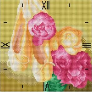 Нежность Часы Алмазные на подрамнике с полной выкладкой Color Kit