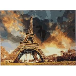 Эйфелева башня Раскраска картина по номерам акриловыми красками на холсте