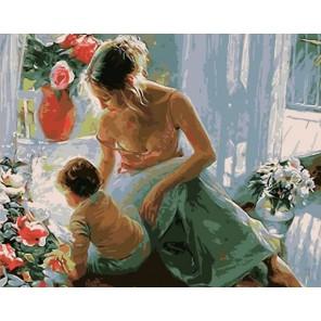 Любовь Раскраска картина по номерам акриловыми красками на холсте Menglei