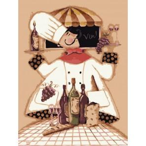 Повар и вино Раскраска по номерам акриловыми красками на холсте Menglei