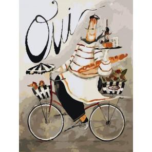 Веселый повар и собачки Раскраска по номерам акриловыми красками на холсте Menglei