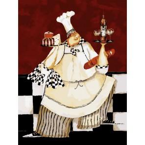 Толстый повар Раскраска по номерам акриловыми красками на холсте Menglei