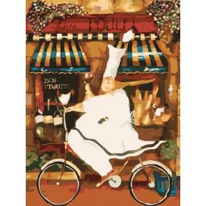 Веселый повар Раскраска по номерам акриловыми красками на холсте Menglei