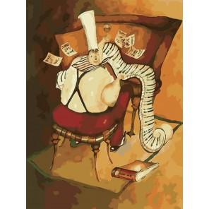 Повар-музыкант Раскраска по номерам акриловыми красками на холсте Menglei