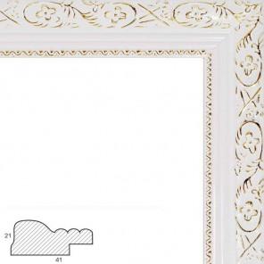 Antique (белый) Рамка багетная универсальная для картины
