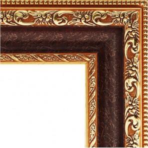 Molly (коричнево-золотая) Рамка багетная универсальная для картины
