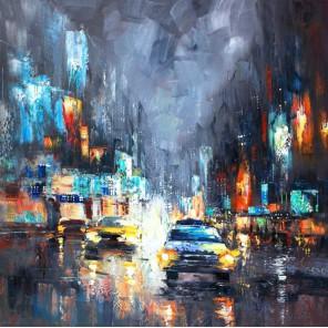 Ночное такси Раскраска картина по номерам акриловыми красками Color Kit