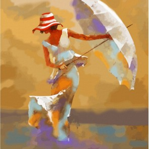 Пляжный зонтик Раскраска картина по номерам акриловыми красками Color Kit