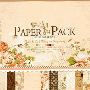Романтика утра Набор бумаги 30,5х30,5 см для скрапбукинга, кардмейкинга Белоснежка
