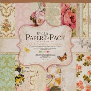 Вальс цветов Набор бумаги 30,5х30,5 см для скрапбукинга, кардмейкинга Белоснежка