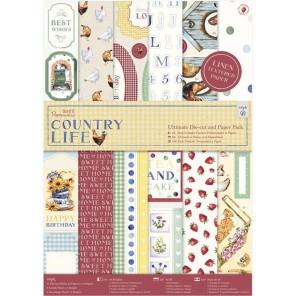 Country Life А4 Набор бумаги с вырубкой для скрапбукинга, кардмейкинга Docrafts