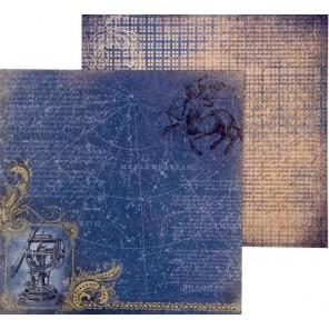 Созвездия. Карта странствий Бумага двусторонняя для скрапбукинга, кардмейкинга Арт Узор
