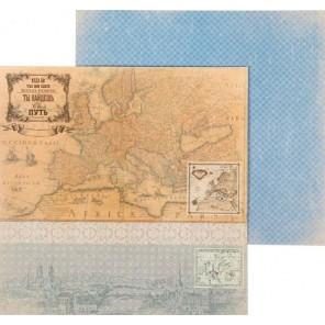 Ты найдешь свой путь! Карта странствий Бумага двусторонняя для скрапбукинга, кардмейкинга Арт Узор