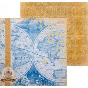 Атлас. Карта странствий Бумага двусторонняя для скрапбукинга, кардмейкинга Арт Узор