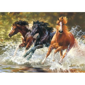 Лошади. Брызки волн Пазлы Castorland