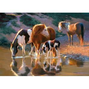 Лошади на водопое Пазлы Castorland