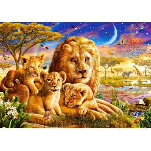 Семья львов Пазлы Castorland