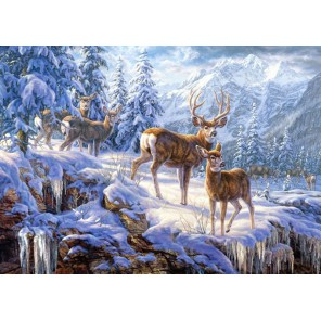 Зимние горы Пазлы Castorland