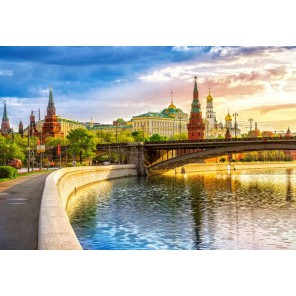 Набережная Москва-реки Пазлы Castorland