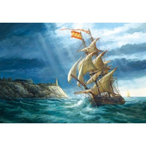 Парусник в море Пазлы Castorland
