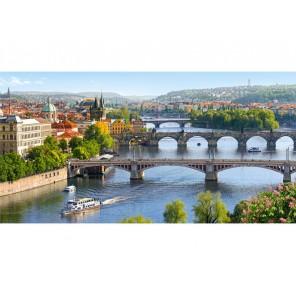 Река Влтава в Праге Пазлы Castorland