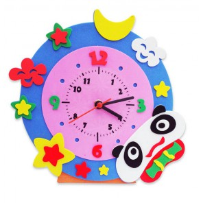 Панда часы Набор для творчества из фоамирана Color Kit
