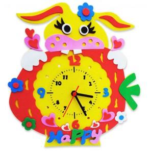 Зайка часы Набор для творчества из фоамирана Color Kit