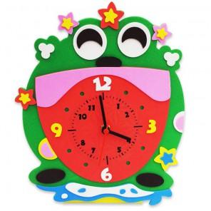 Лягушка часы Набор для творчества из фоамирана Color Kit