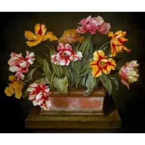 Тюльпаны Набор для частичной вышивки бисером Color Kit