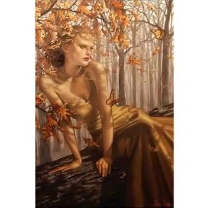 Осенняя Фея Набор для частичной вышивки бисером Color Kit