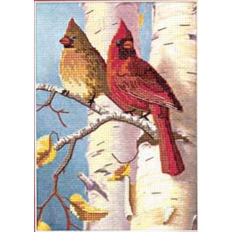 Пара кардиналов 06938 Набор для вышивания Dimensions ( Дименшенс )