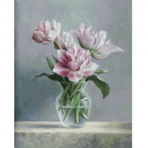 Красота цветов Алмазная мозаика на подрамнике Цветной